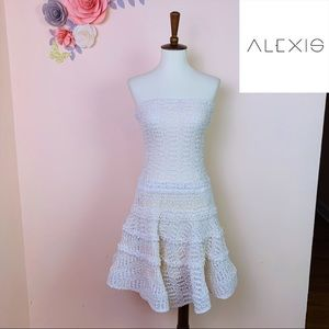 ALEXIS Sleeveless Macrame Knitted Mini Dress